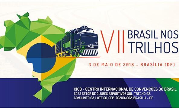 Cartaz da sétima edição do Brasil nos Trilhos, organizado pela ANTF