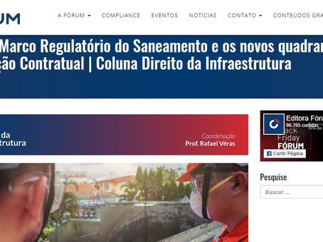 Direito da Infraestrutura: O Novo Marco Regulatório do Saneamento e os novos quadrantes da Regulação