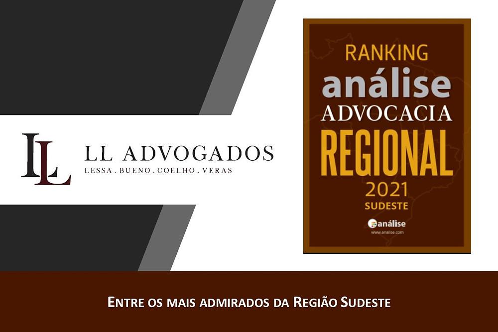 LL Advogados entre os mais admirados no novo ranking Análise Advocacia Regional