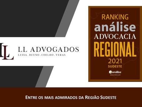 LL Advogados fica entre os mais admirados em novo ranking da Análise Advocacia