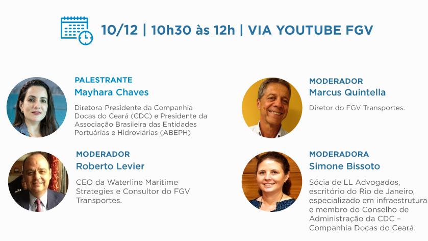 """A sócia de LL Advogados Simone Bissoto será uma das moderadoras do webinar """"A Visão do Futuro para o Porto de Fortaleza"""", realizado pela FGV Transportes"""