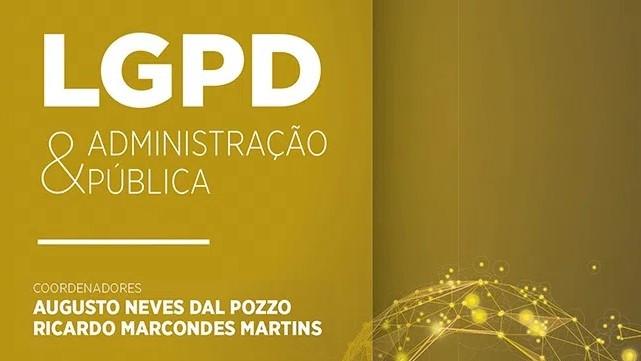 """Capa do livro """"LGPD e a Administração Pública"""""""