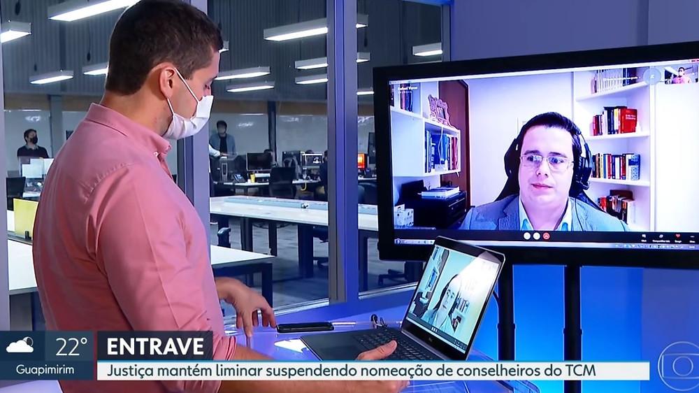 Sócio de LL Advogados e professor da FGV, Rafael Véras concede entrevista à TV Globo