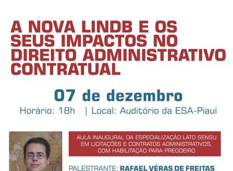 Sócio de LL Advogados faz aula inaugural no Piauí sobre a nova LINDB