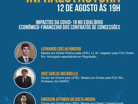 Sócio do LL palestra sobre os Impactos da Covid-19 no Equilíbrio Econômico-Financeiro das Concessões