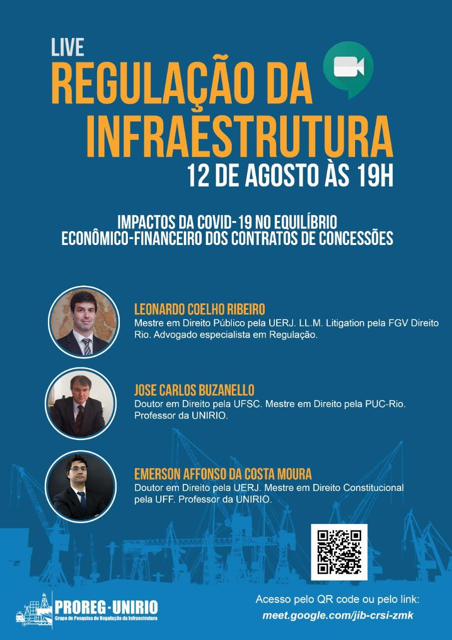 Live sobre regulação da infraestrutura com o sócio de LL Advogados Leonardo Coelho