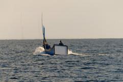 de Sumatra vissers met het 'witte kontje'