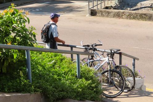 weer klaar om op de fiets te springen
