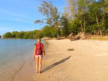 de dagelijkse strandwandeling