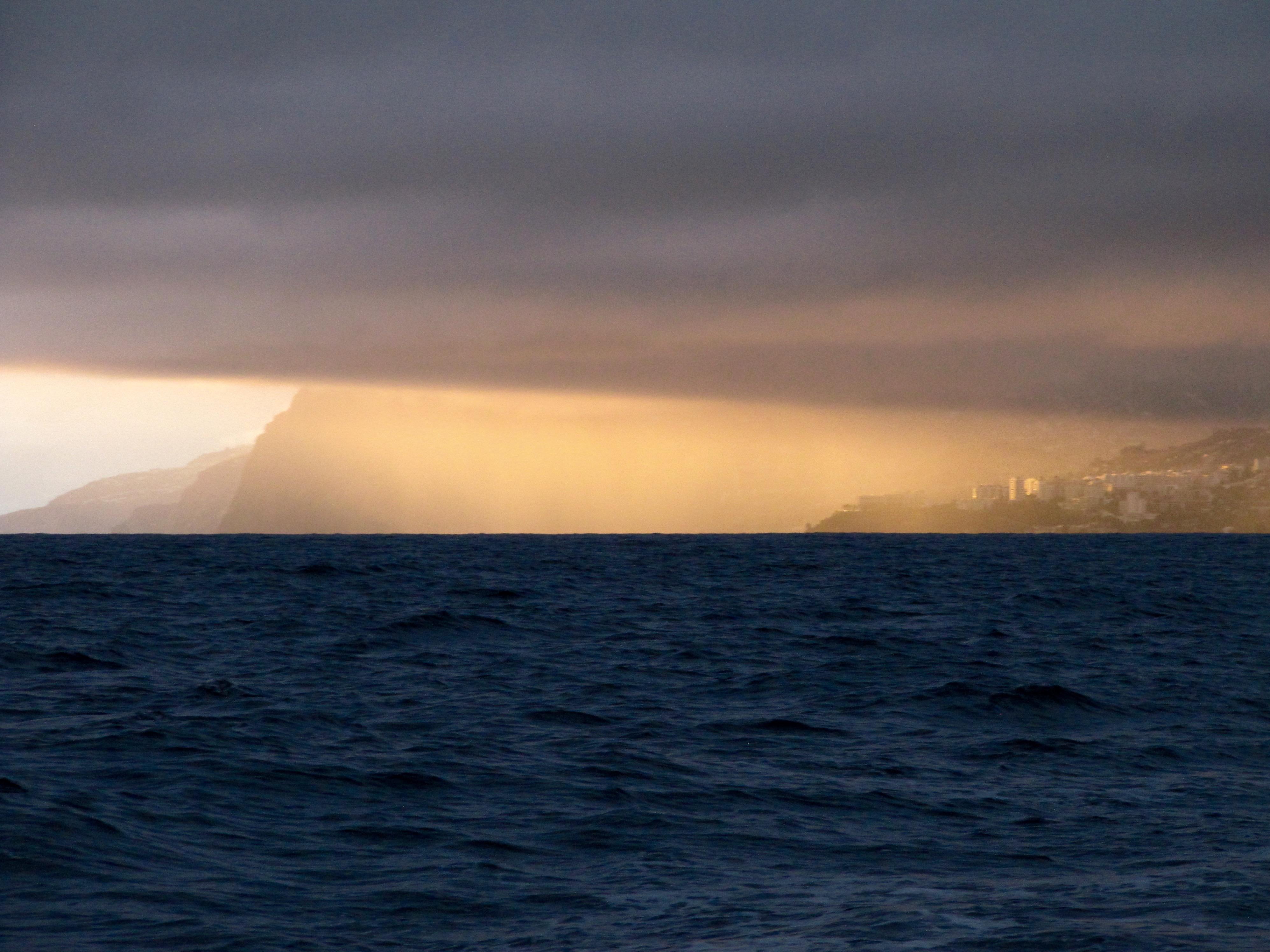 Ons vertrek bij Madeira