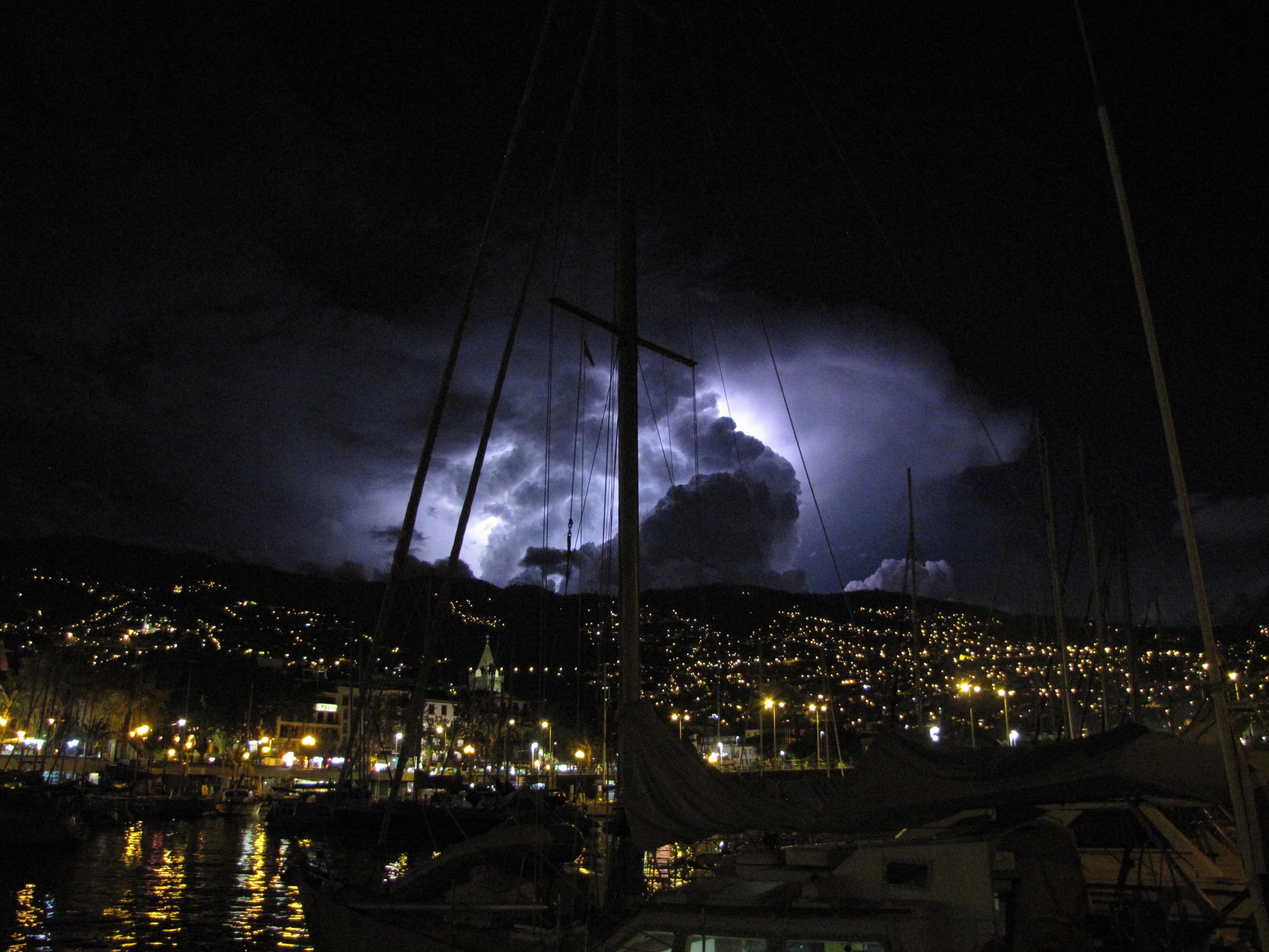 Onweer in Funchal