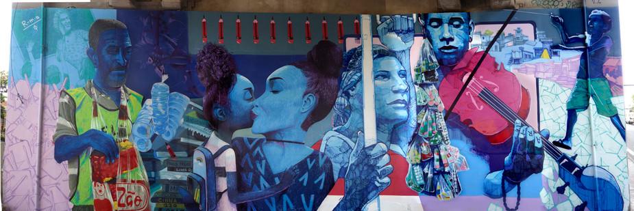 PROJETO COPA GRAFFITI METRÔ RIO, COLABORAÇÃO COM DAVI BALTAR