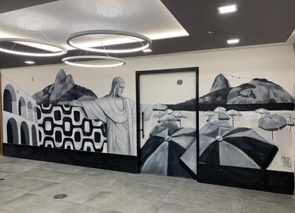 PROJETO PAREDE VIVA, HALL DE ENTRADA DA MARSH BRASIL