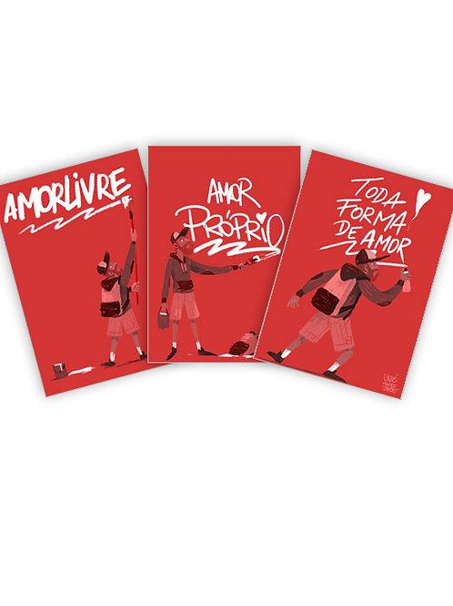 Pack 6 Adesivos / AmorLivre