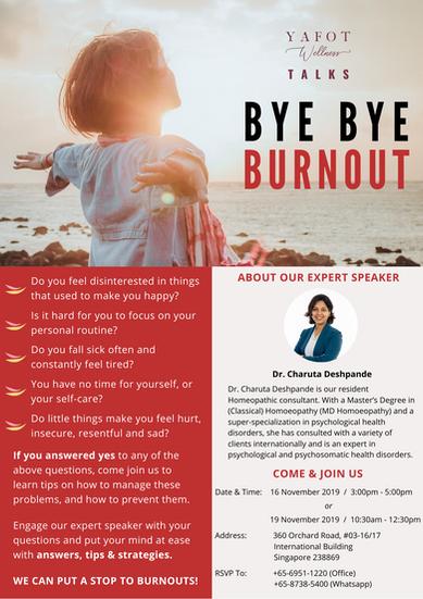 Yafot Wellness Bye Bye Burnout