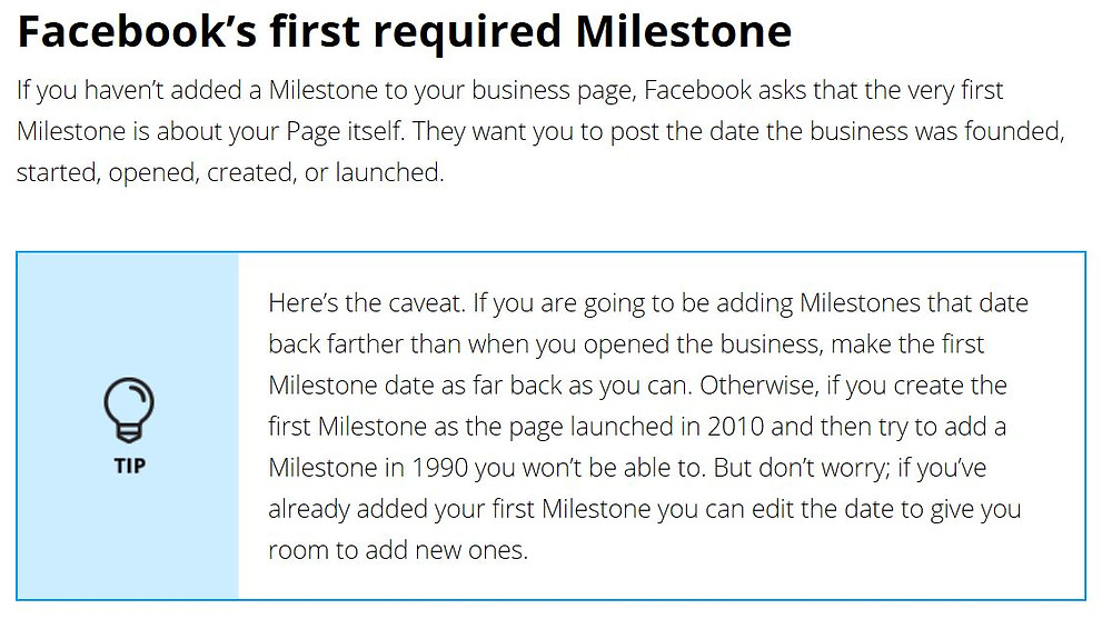 Facebook Milestone Customer Engagement Tip
