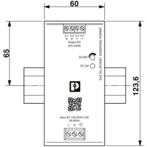 2910587 - ESSENTIAL-PS/1AC/24DC/240W/EE (EMBALAJE DE 1 UNIDAD)