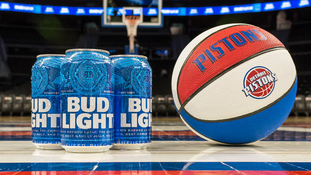 Bud Light + Pistons