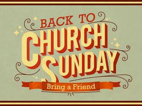 Back to Church Sunday - April 4