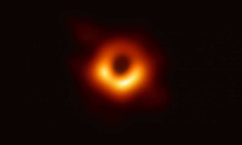 The first ever black hole image of M87, produced by the Event Horizon Telescope Collaboration et al.