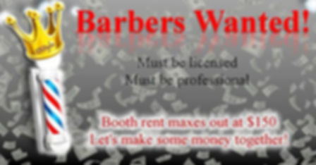 D'Styes Barer Shop is looking for barbers