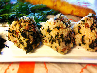 Carrot leaf and Barley and Brown Rice Ball