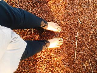 地球と足と私と