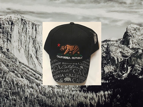 California Republic Baseball Cap Black