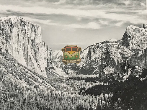Yosemite Bus Mini Wood Sticker