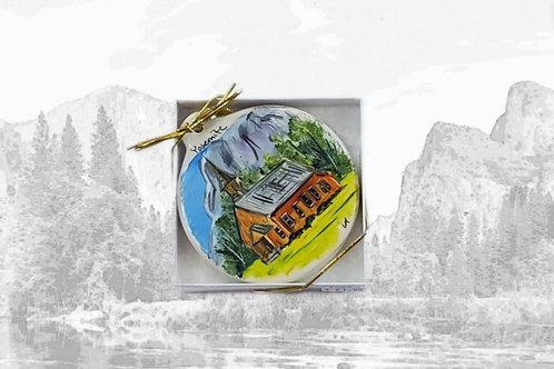 Hand Painted Yosemite Ornament
