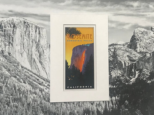 Yosemite Horse Tail Falls Mini Print