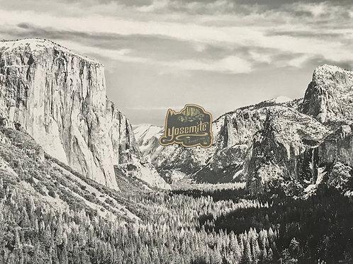 Yosemite Half Dome Mini Wood Sticker
