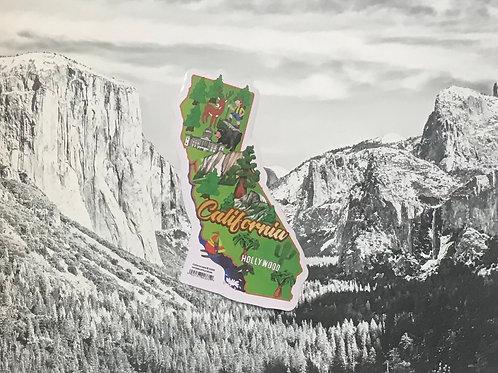 California Map Small Sticker