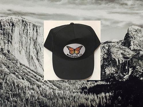Mariposa, Ca Black Butterfly Baseball Cap