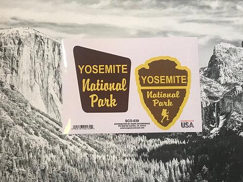 Yosemite National Park 2 Stickers