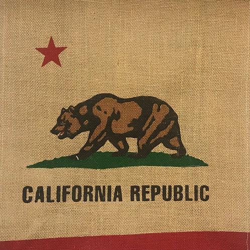 California Republic Jute Shopping Bag