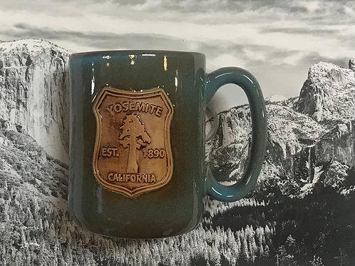 Yosemite Tree Teal Ceramic Mug