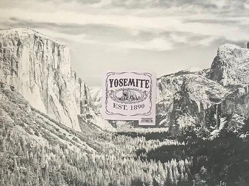 Yosemite Est. 1890 Square Small Sticker