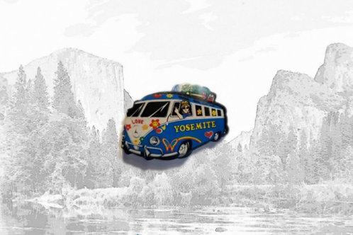 Wooden Yosemite Love Bus Magnet
