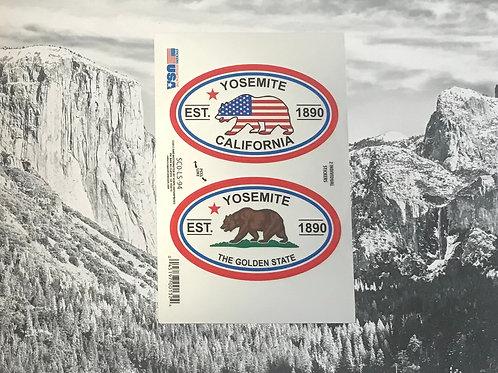 Yosemite-California Bear 2 Stickers