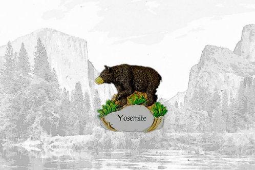 Ceramic Yosemite Bear Magnet