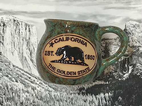 California The Golden State Pot Belly Mug