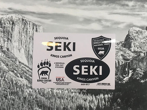 SEKI-Sequoia and Kings Canyon 4 Stickers