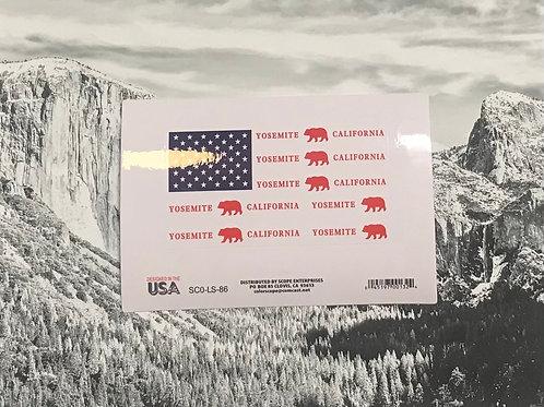 Yosemite-California Bear Flag Sticker