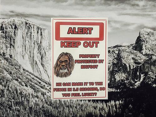 Alert Keep Out Tin Sign