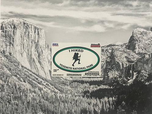 I Hiked Yosemite National Park Mini Sticker