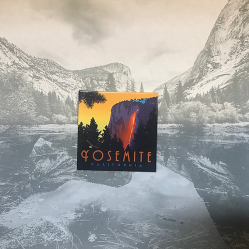 Yosemite Horse Tail Falls Magnet