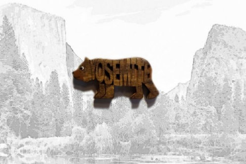 Carved Wooden Yosemite Magnet