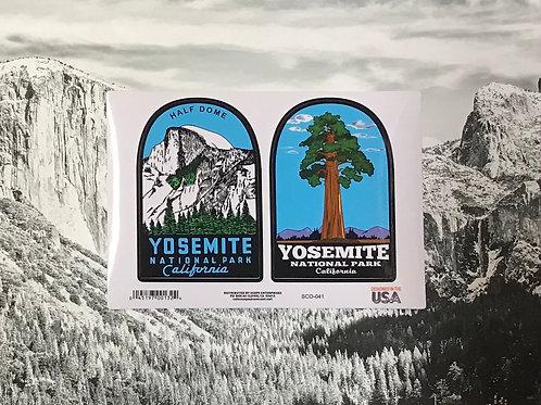Yosemite Half dome and Yosemite Big Tree Sticker