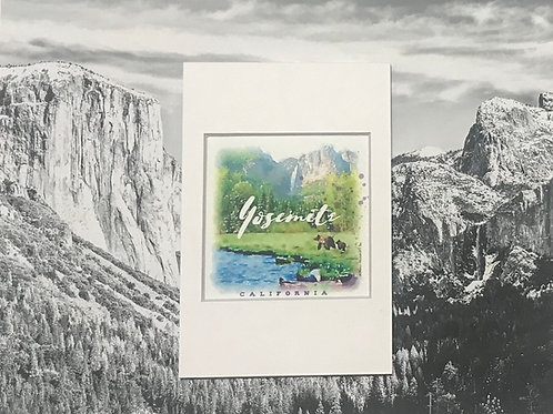 Bears in Yosemite Mini Photo Print
